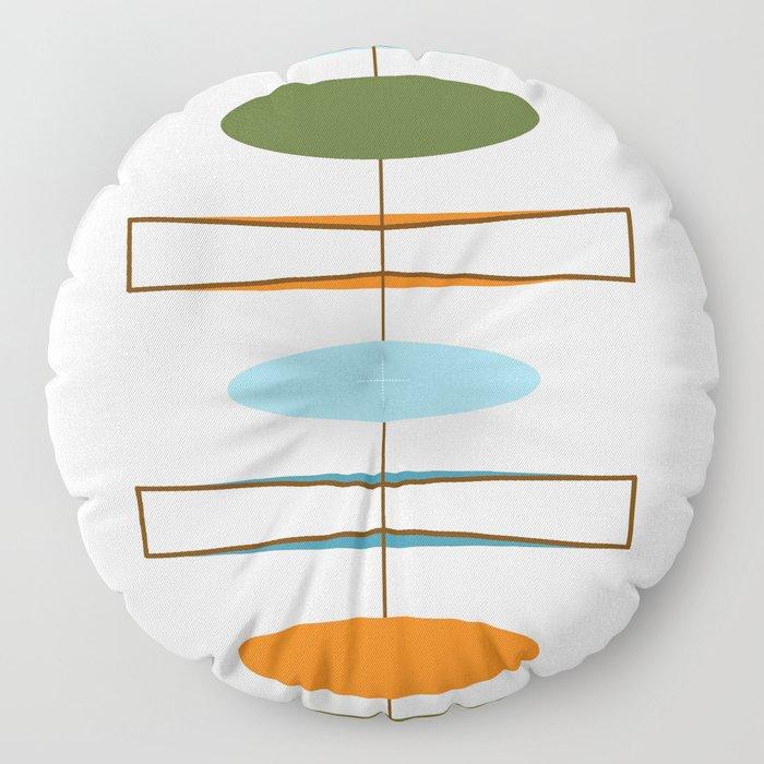 Mid-Century Modern Art 1.2 Floor Pillow