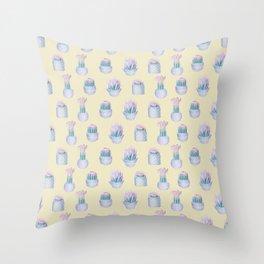 Succulent Yellow Haze Throw Pillow