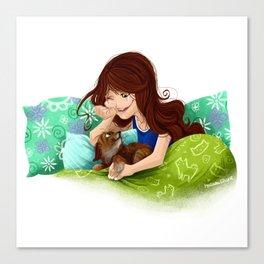 Puppy Love Part II Canvas Print