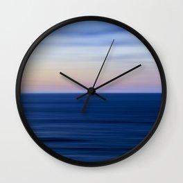 An Ocean Abstract II Wall Clock