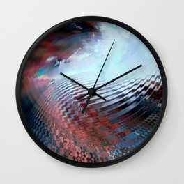 Abstract sky and water Wall Clock