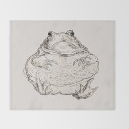 Draw Me Like One Of Your French Frogs Throw Blanket