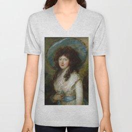 """Thomas Gainsborough """"Miss Catherine Tatton"""" Unisex V-Neck"""