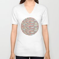 candy V-neck T-shirts featuring Candy by Pom Graphic Design
