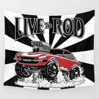 1975 Wall Tapestries featuring 280z GASSER by SCREAMNJIMMY