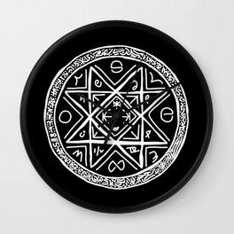 Octogram Sigil 1 Wall Clock