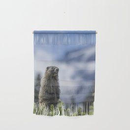Marmot Checking Out His Neighborhood at Mount Rainier, No. 3 Wall Hanging