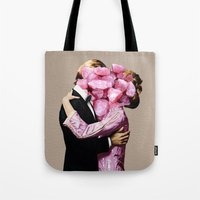 eugenia loli Tote Bags featuring Rocky Start by Eugenia Loli
