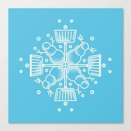Shovelflake 2: Snowmen Canvas Print