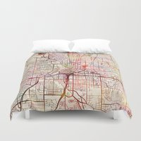 atlanta Duvet Covers featuring Atlanta by MapMapMaps.Watercolors