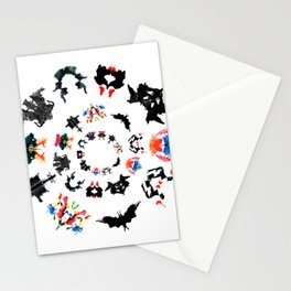circle of Rorschach test Ink blots ! Stationery Cards