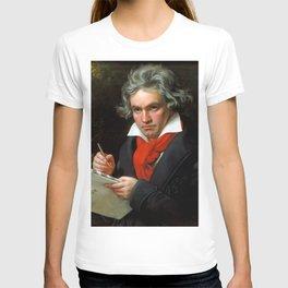 Ludwig van Beethoven (1770-1827) by Joseph Karl Stieler, 1820 T-shirt