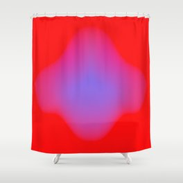 blue makes more red Shower Curtain