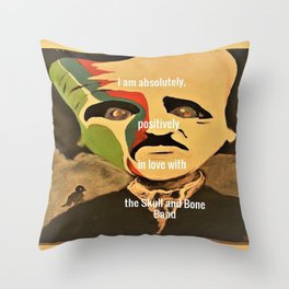 Poe, I am absolutely, positively, in love with the Skull and Bone Band Throw Pillow