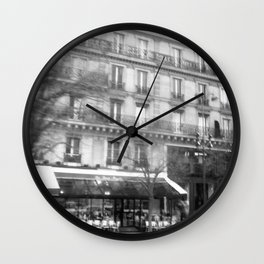 Driving Past the Cafe Wall Clock