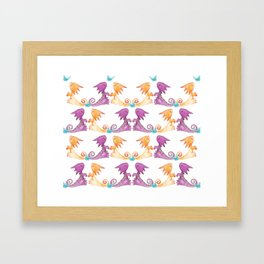 Baby Dragons and Butterflies Framed Art Print
