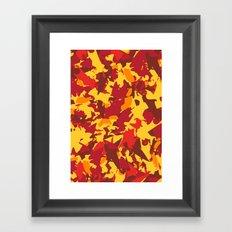vermont fall camo Framed Art Print