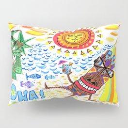 mid century modern Hawaiian tiki toast pattern Pillow Sham