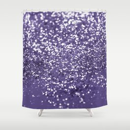 Sparkling ULTRA VIOLET Lady Glitter #1 #shiny #decor #art #society6 Shower Curtain