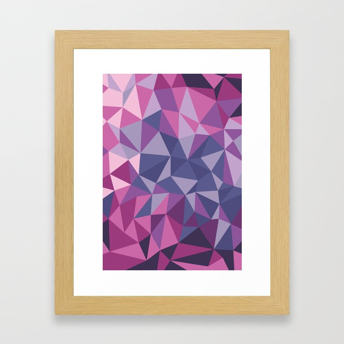 Crystal texture Framed Art Print