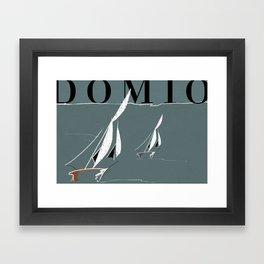 Domio at Lake Michigan Framed Art Print