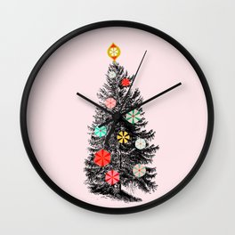 Retro Christmes tree no2 Wall Clock