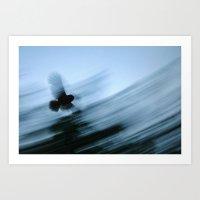 Owl Blur Art Print