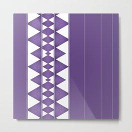 Purple Diamond Stripe Pattern Metal Print