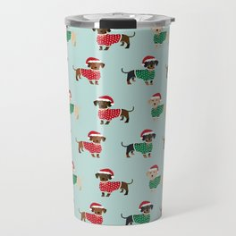 Doxie Christmas Sweaters cute dachshund pattern print dog gifts Travel Mug