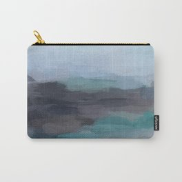 Mint Navy Blue Green Abstract Wall Art, Painting Art, Ocean Painting Print, Blue Water Carry-All Pouch