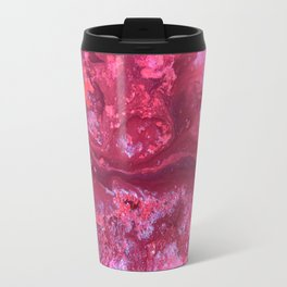 Pink Nebula Mixed Media Abstract Painting,Original Contemporary Artwork, Abstract Design And Art Travel Mug