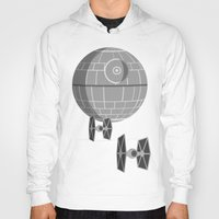 death star Hoodies featuring Star Wars Death Star by foreverwars