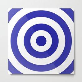 Target (Navy Blue & White Pattern) Metal Print