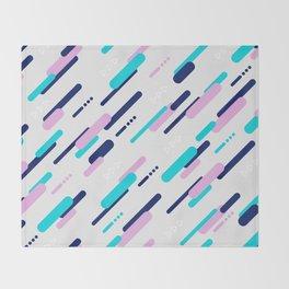 Minimal Geometric Diagonal Pattern Throw Blanket