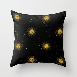 sunmoon Throw Pillow