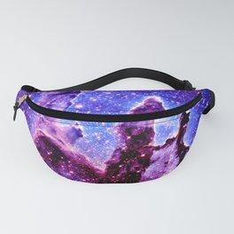 Galaxy Nebula : Pillars of Creation Purple Blue Fanny Pack