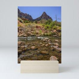 The Watchman & The Virgin 4756 - Zion National Park, Utah Mini Art Print