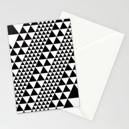 Geometric Pattern #39 (black triangles) Stationery Cards