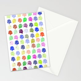 Colorful Whales Stationery Cards