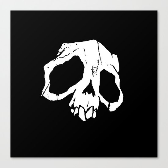 Ghoul Skull Canvas Print