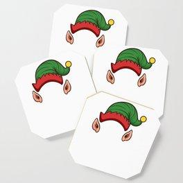 Elf Squad Funny Christmas Gift Holiday Season Coaster
