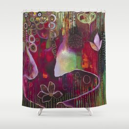 """Surrender"" Original Painting by Flora Bowley Shower Curtain"