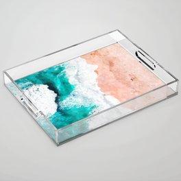 Beach Illustration Acrylic Tray