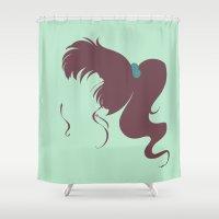 sailor jupiter Shower Curtains featuring Sailor Jupiter by karla estrada