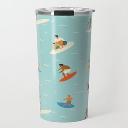 Surfing kids Travel Mug