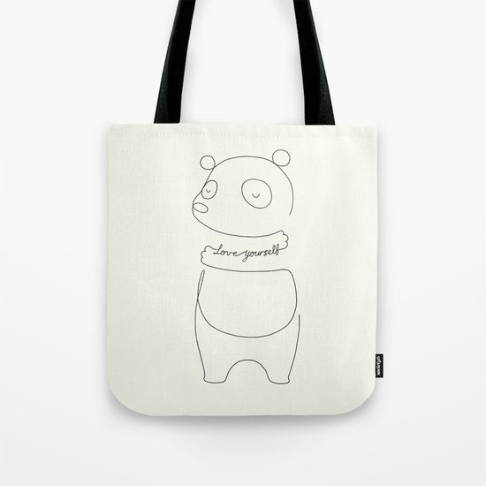 Love Yourself Panda Tote Bag