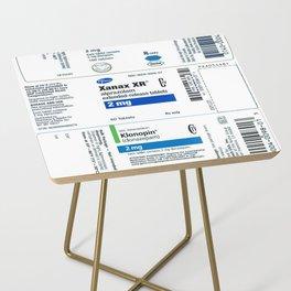 Drug Labels Side Table