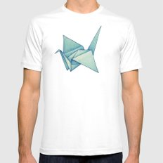 High Hopes | Origami Crane White MEDIUM Mens Fitted Tee