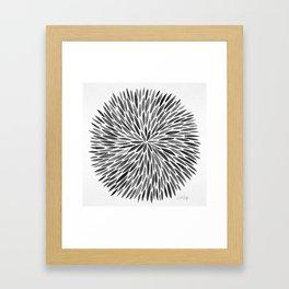 Blackened Burst Framed Art Print
