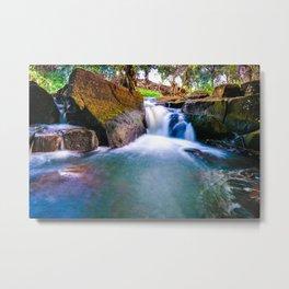 Waikomo Waterfall Metal Print